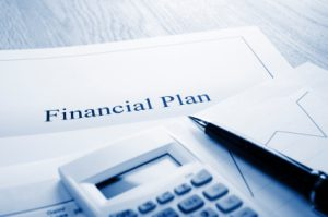 Financial Plan Blue Tone
